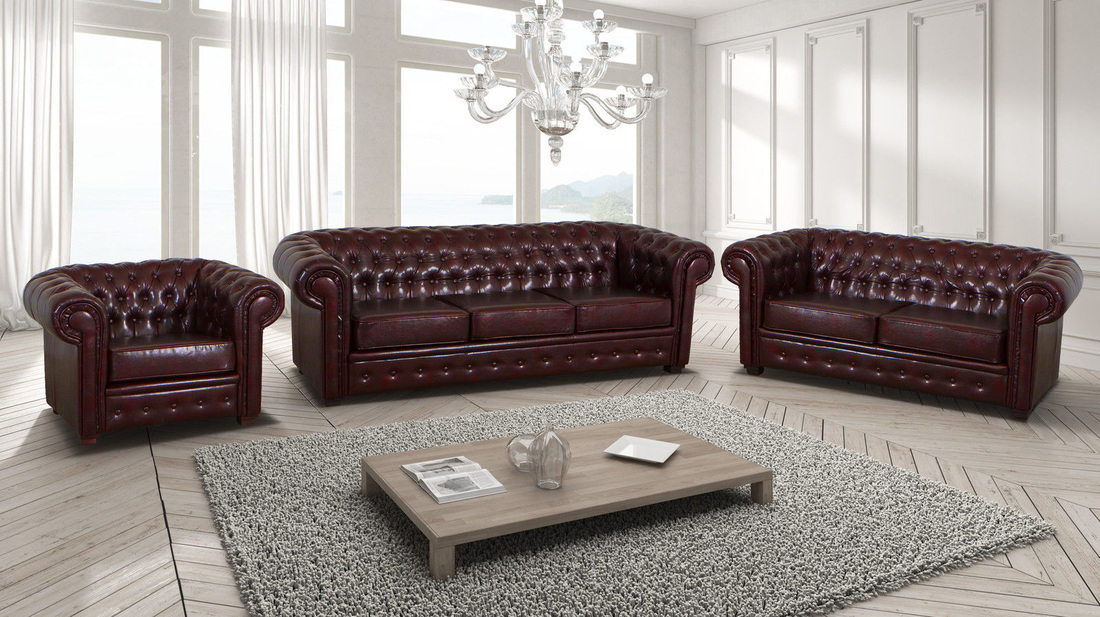 Supreme Leather Chesterfield Hi 5 Home Furniture