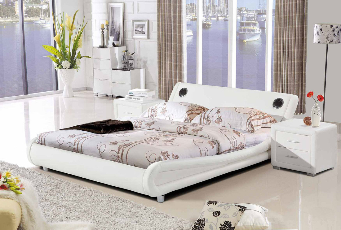 Madrid bluetooth bed hi 5 home furniture - Beautiful snooze bedroom suites packing comfort in style ...