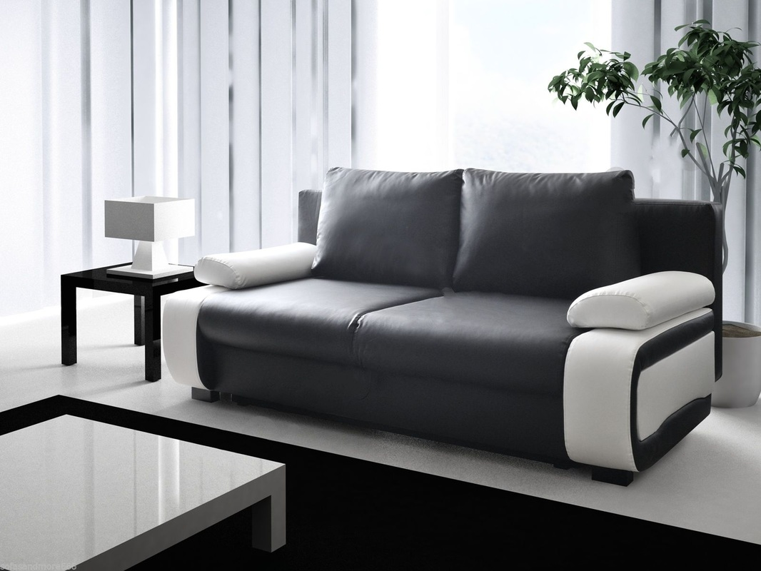 Vicki sofa bed hi 5 home furniture for Black leather sectional sofa uk