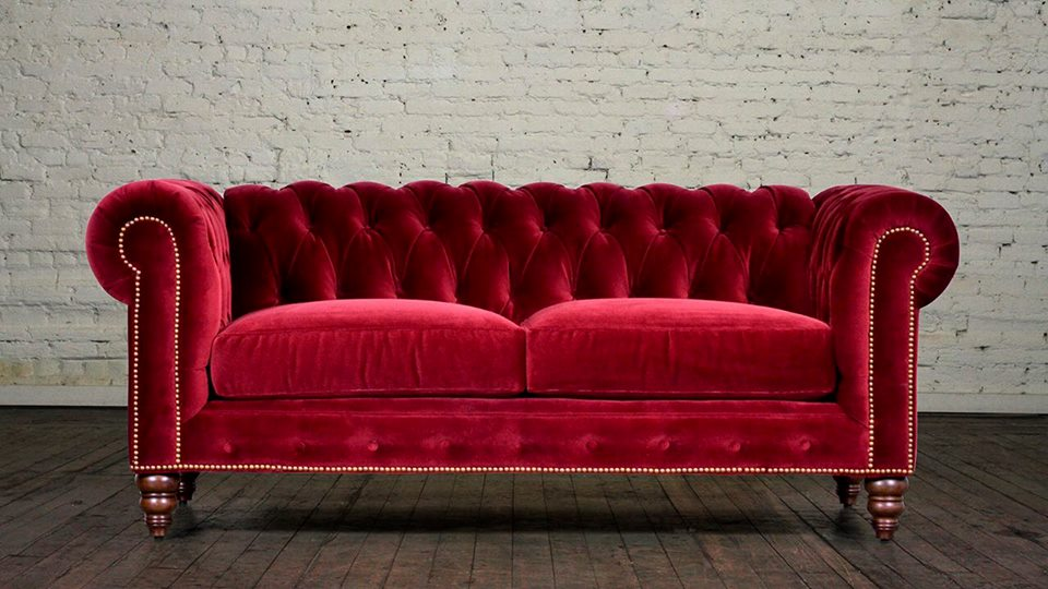 Crushed Velvet Chesterfield Hi 5 Home Furniture
