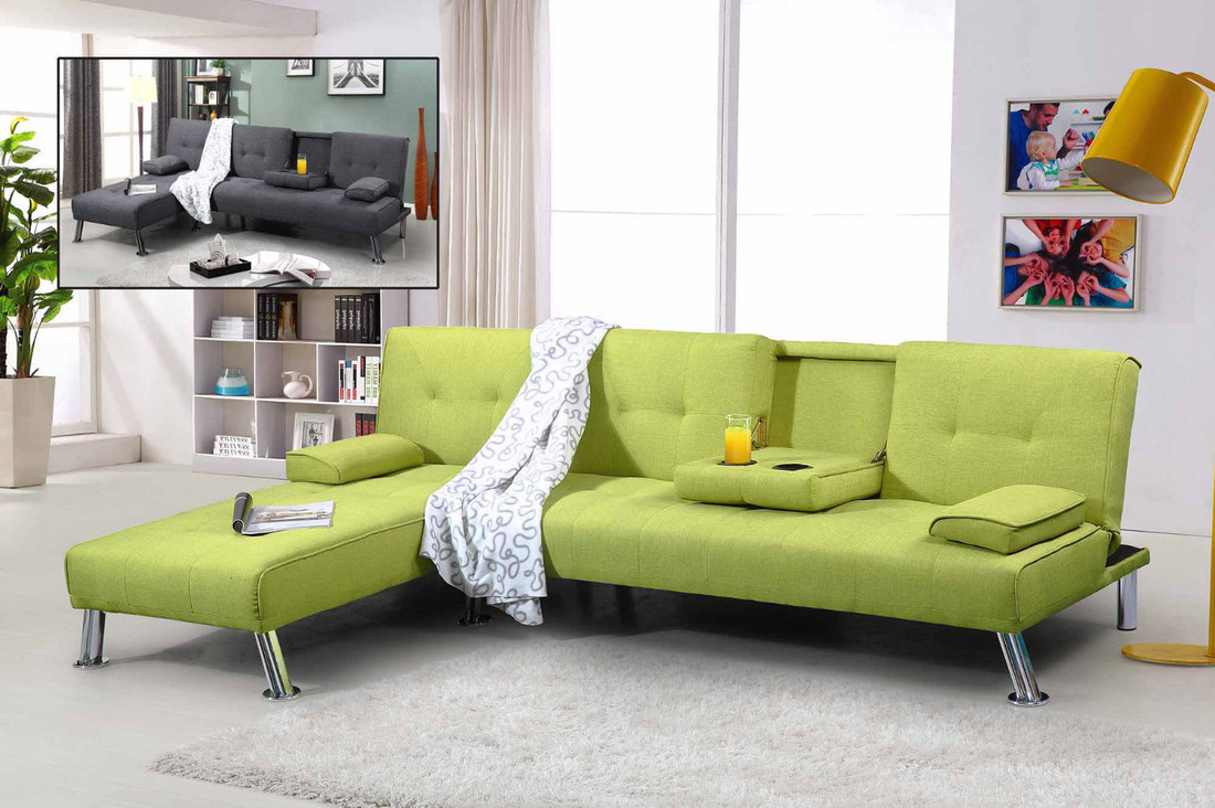 NEW YORK FABRIC SOFA BED - HI 5 HOME FURNITURE